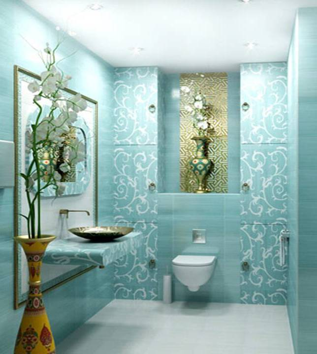 Home decor brilliant turquoise interior designs for Brown and turquoise bathroom ideas
