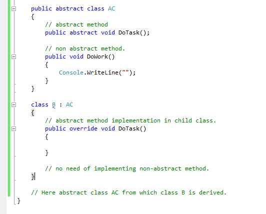 abstract class in c# with real time example