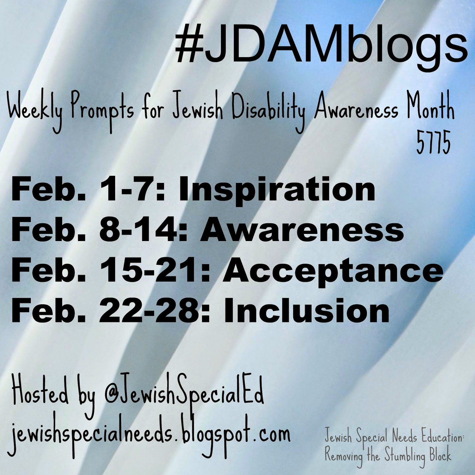 JDAMblogs: weekly prompts for Jewish Disability Awareness Month
