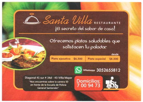 """Restaurante """"Santa Villa"""""""