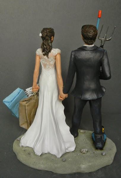top cake statuine sposi personalizzate abito da sposa orme magiche
