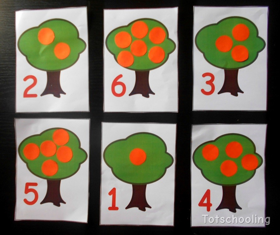 Orange Tree Counting Activity with Free Printable ...