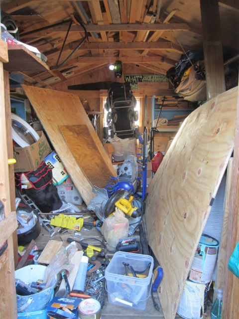Tiny Shed Man Cave : Relaxshacks deek s crappy shed becomes a modern rock