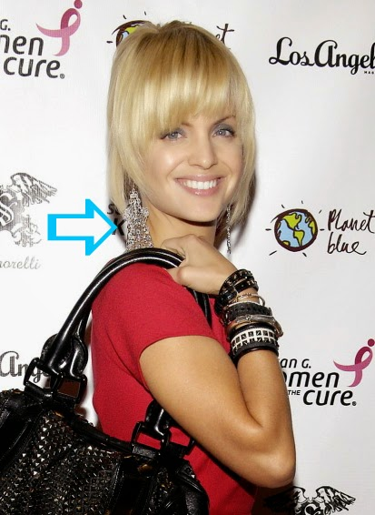 Mena Suvari wearing Jenny Dayco earrings