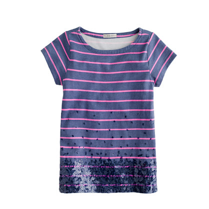 Stripes And Sequins Tee, Crew Cuts