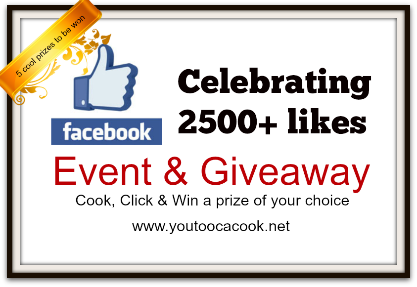 Celebrating Event & Giveaway by You Too Can Cook