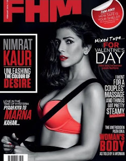 Nimrat Kaur from Airlift in Spicy Red Top in FHM Magazine February 2016
