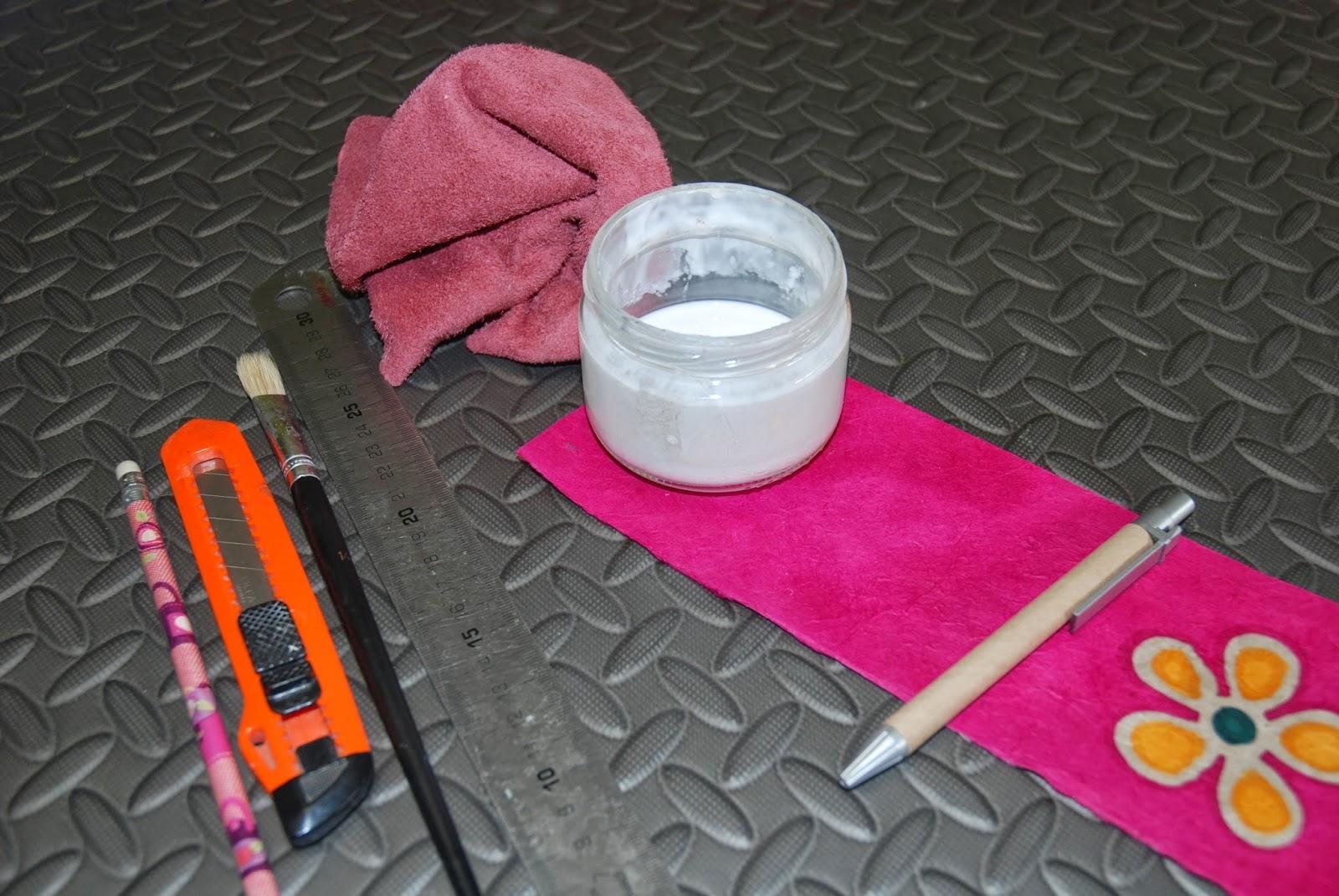 Materiales para forrar bolígrafo cartón