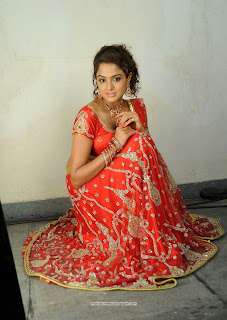 Asmitha Sood in Red Saree Red Blouse Stunning Beauty HQ Pics