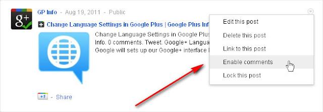 Google+ Enable Comments