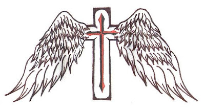 Cross Wing Tattoo on Cross Tattoos With Wings For Men   Art Images