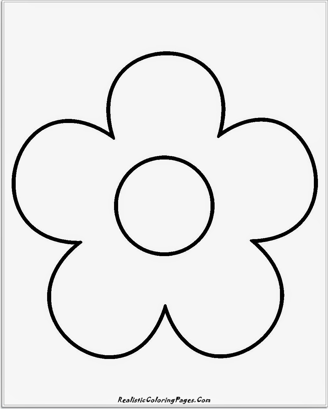 simple flower kids coloring sheet
