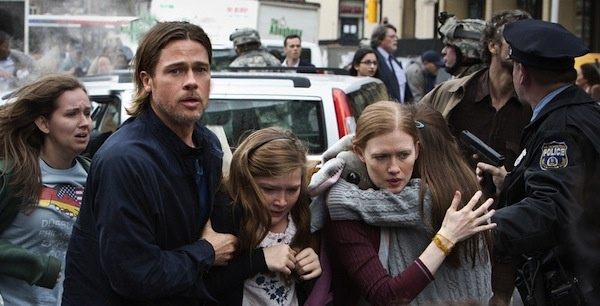 Brad Pitt saving his family in World War Z