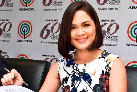 Judy Ann Santos during her recent contract renewal with ABS-CBN