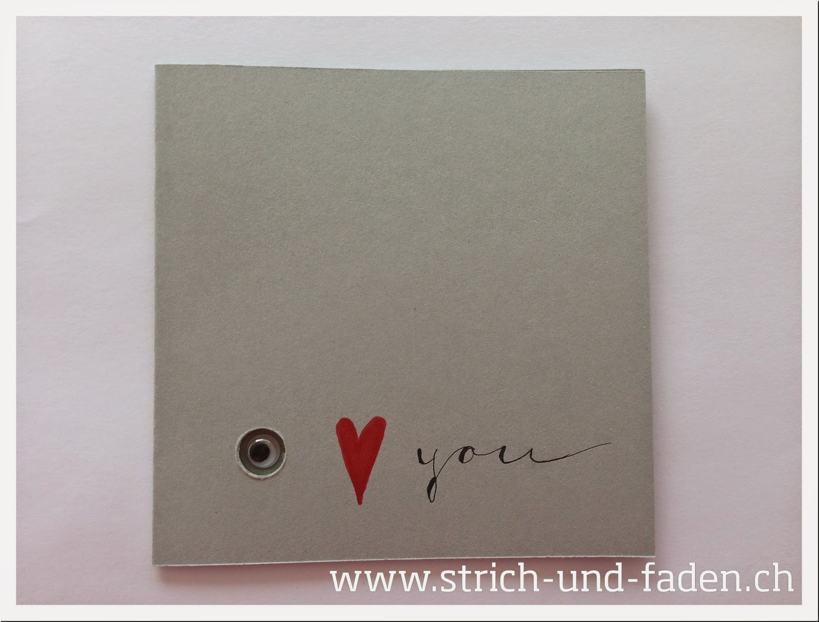 mit Strich und Faden | I Love You Valentine