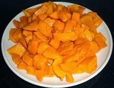 mango pieces to make mango lassi