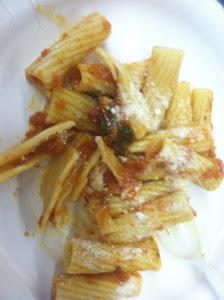 Mrs. Turner made us pasta! YUM!!!