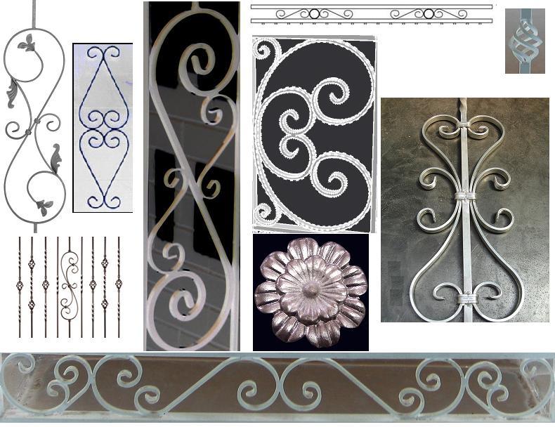 Aluminium wrought iron and fence