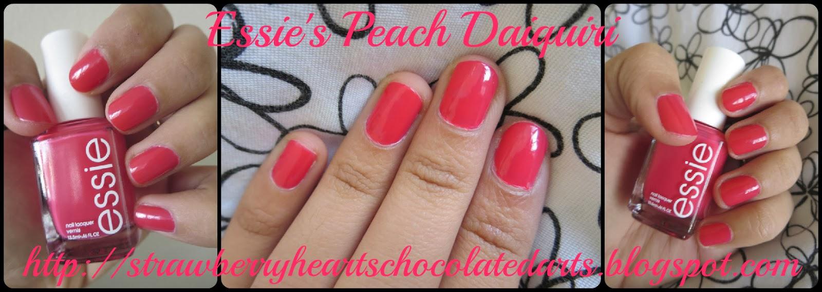 Strawberry Hearts Chocolate Darts: Essie Nail Polish in Peach Daiquiri