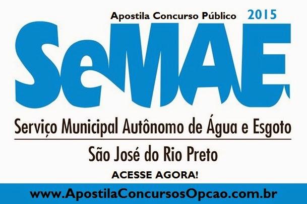 Apostila Saae-Serviço Autônomo de Água e Esgoto-Rio Preto-2015