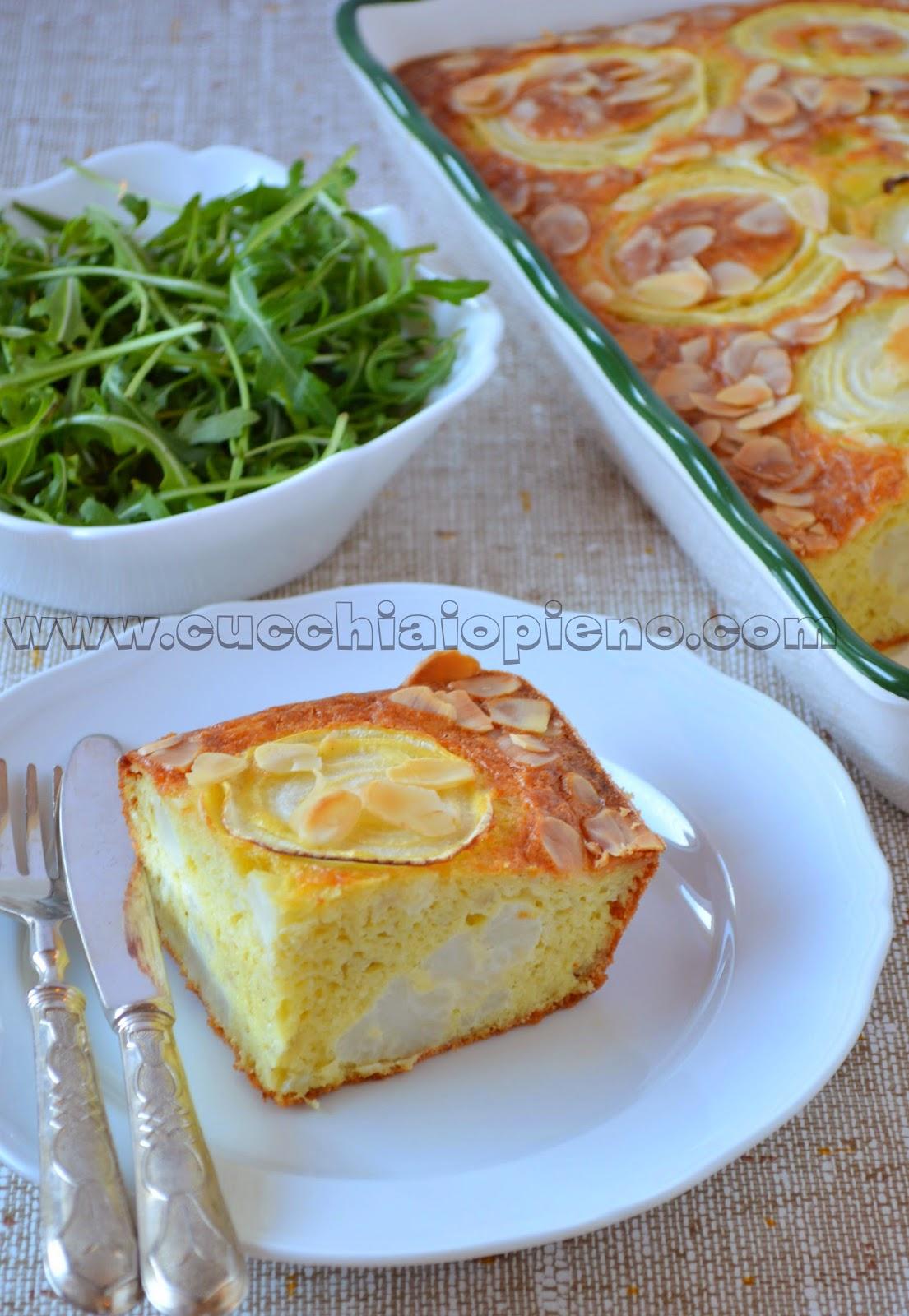 torta di cavolfiore con curry e mandorle