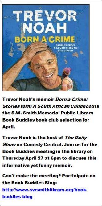 4-27 Trevor Noah's memoir Born a Crime