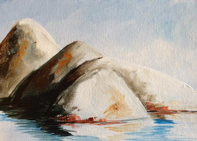 Lake Tahoe Boulder painting by Pamela Hunt Lee