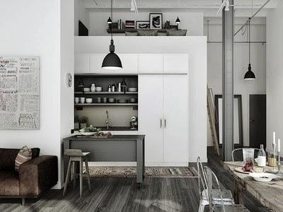 Kuchnia i jadalnie, kitchen, kuchnie, styl skandynawski, biel, czerń, w jasnych odcieniach
