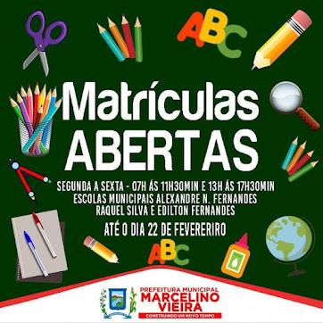 Rede Municipal de Ensino-Matrículas Abertas!