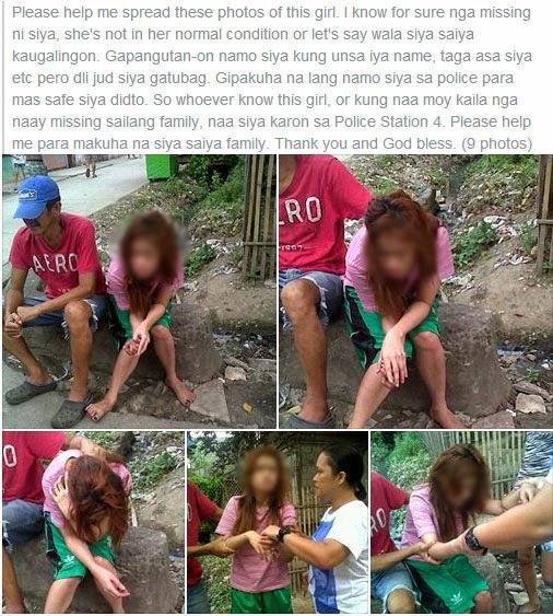 Missing girl found in CDO through Facebook