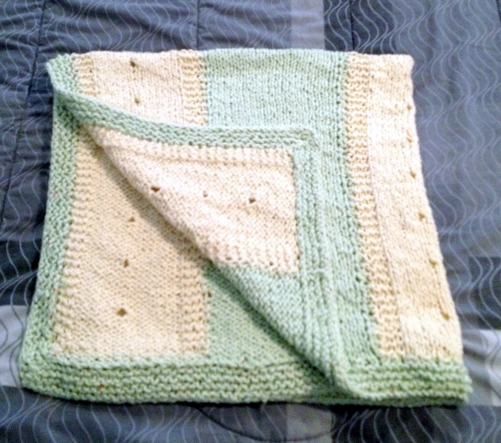 Knit Striped Baby Blanket