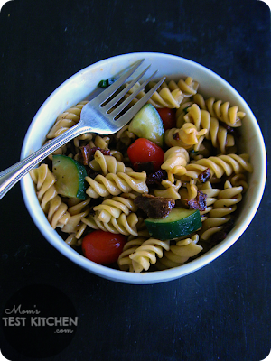 Mom's Test Kitchen: Peppered Bacon & Sweet Balsamic Pasta Salad