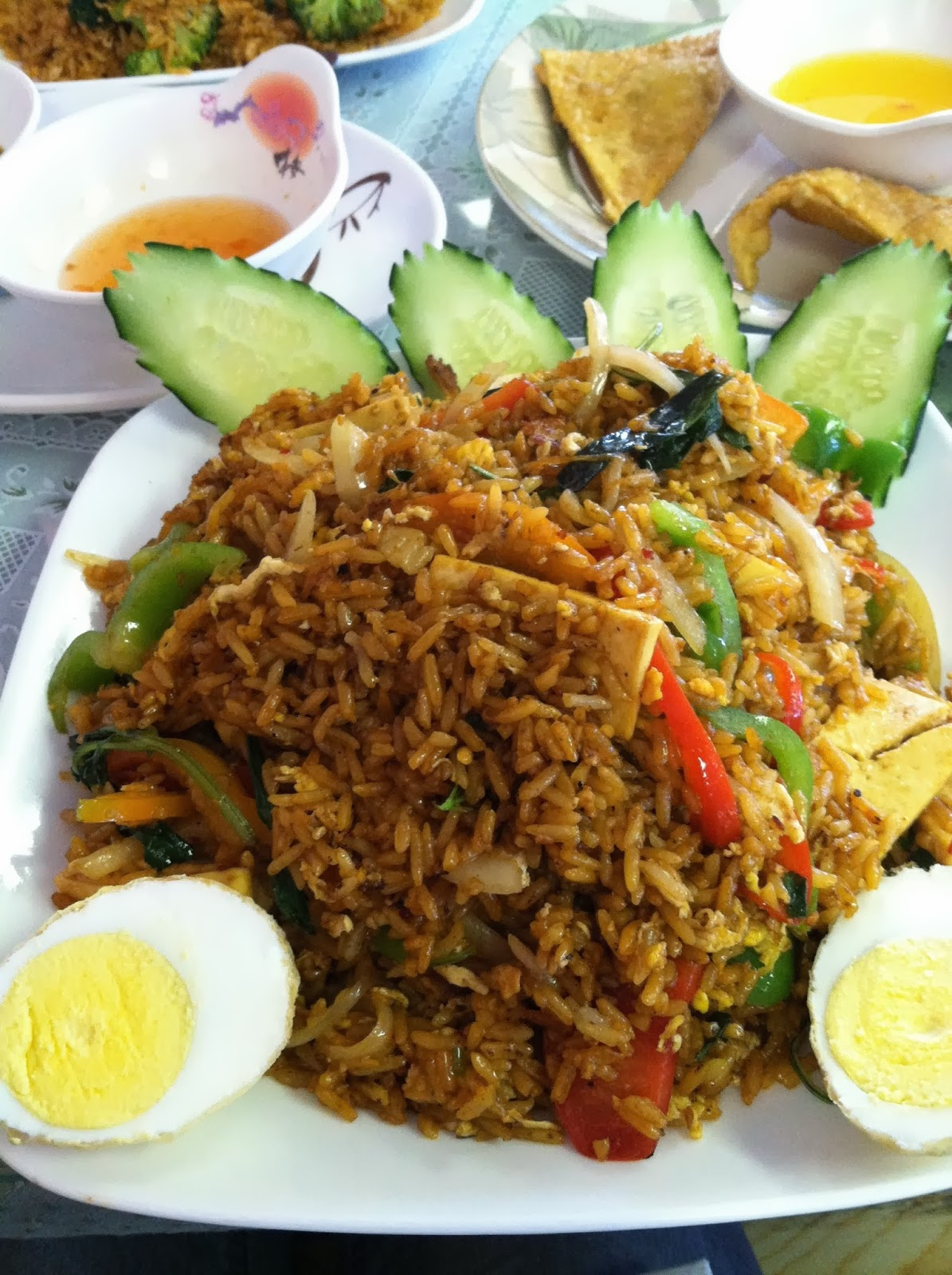 Thai, Thai food, fried rice, veggies, vegetarian, vegetables, egg