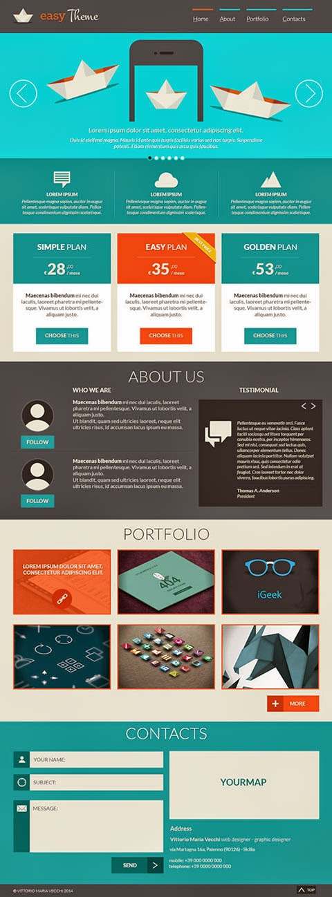 Free Easy PSD Template