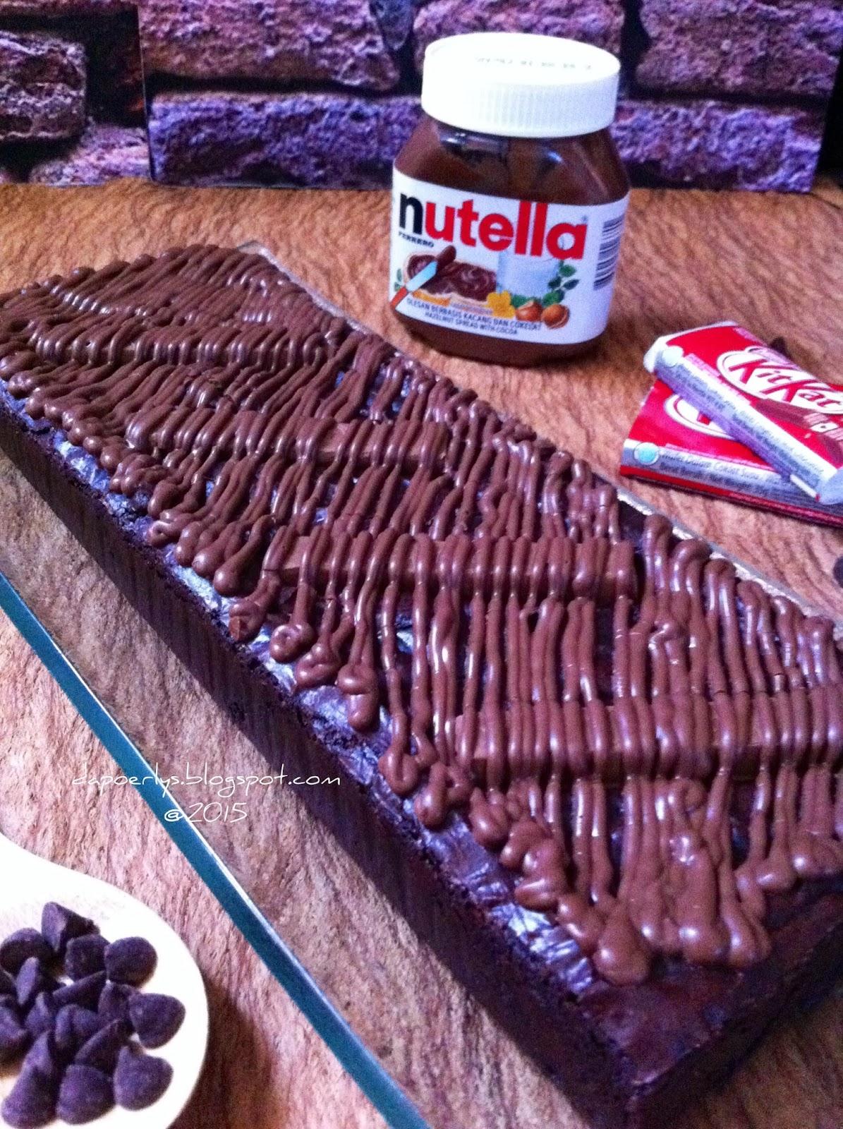 Nutella Topped Brownies Dapur Ibu Nutella Kit Kat Brownies Extreme Fudgy
