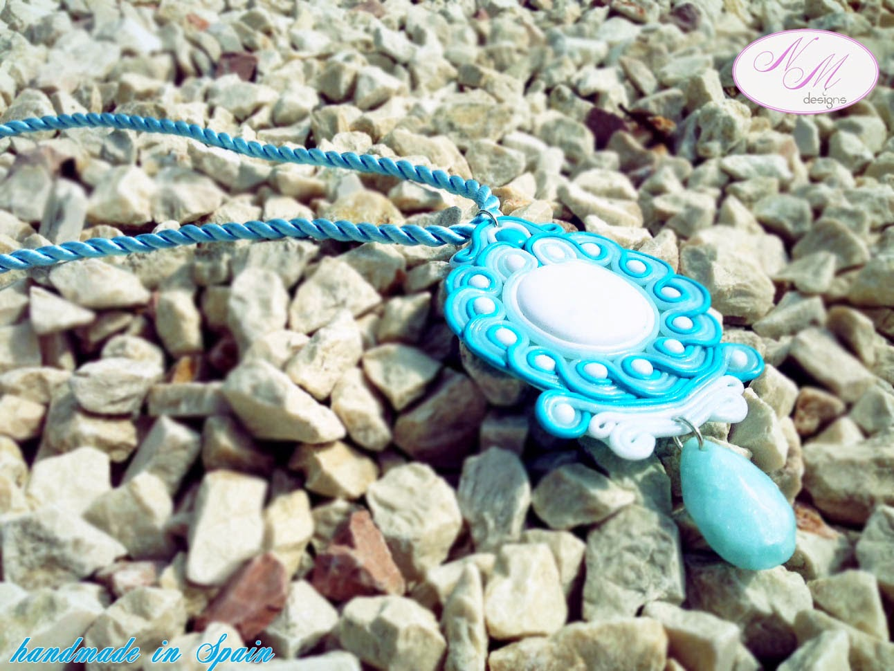 "Colgante/Pendant ""Blue Whirls"" NM Designs"