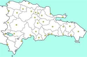 Mapa de provincias para pintar, República Dominicana