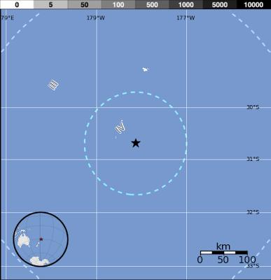 Terremoto 6,1 grados islas Kermadec, Nueva Zelanda, 18 de Febrero de 2013