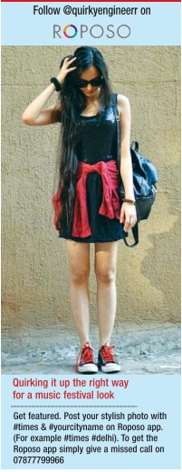 roposo, music festival, kolkata times, indian fashion blogger, kolkata fashion blogger, black dress, newspaper, calcutta times, diva of the day