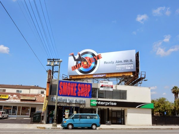 Bullseye TV series billboard