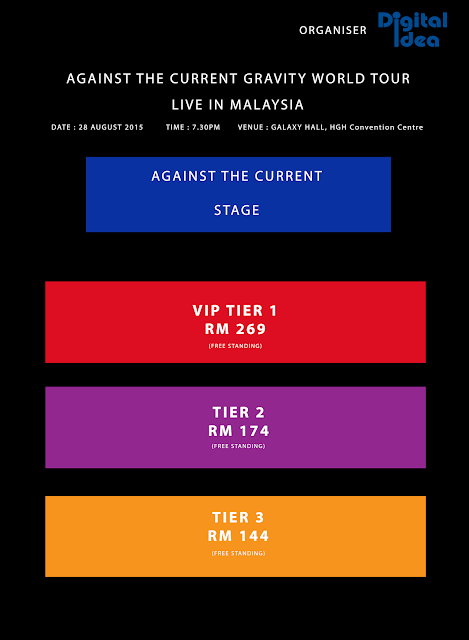 AGAINST THE CURRENT GRAVITY WORLD TOUR 2015 - MALAYSIA SEATING PLAN