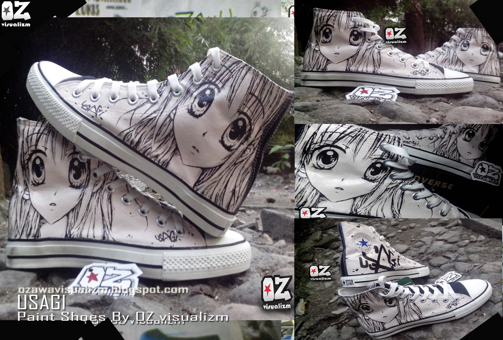 Ozawa Visualizm online shopz  SEPATU LUKIS USAGI CONVERSE ALL STAR bdeb30baa6