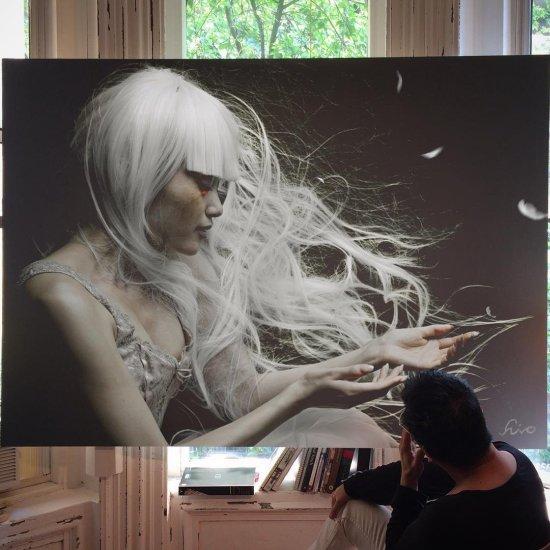 Hirothropologie instagram pinturas hiper-realistas grandes de lindas mulheres