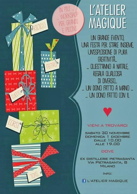 Evento L'Atelier Magique 30novebre 1 dicembre 2013