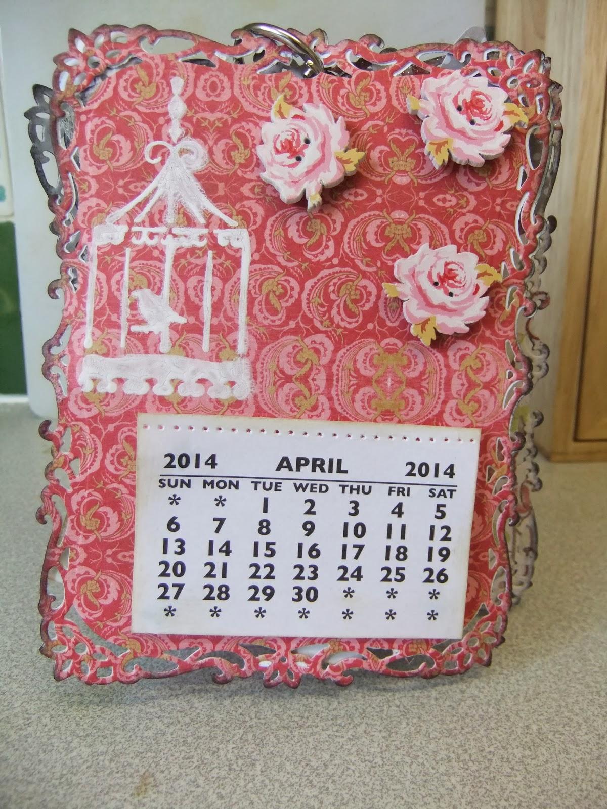 Handmade Calendar Design : Challenge entry for lulupu handmade desktop calendar