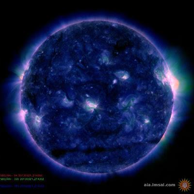 IMPULSIVA LLAMARADA SOLAR CLASE M1.6, el 21 de Marzo de 2013