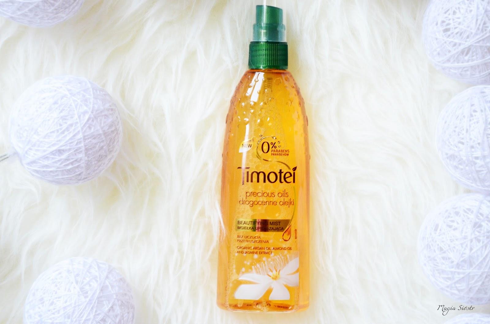 kosmetyki Timotei - Drogocenne Olejki, kosmetyki do włosów, mgiełka do włosów, odżywka w sprayu do włosów, suche włosy