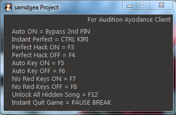 Cheat AyoDance samdgea Project ALL PATCH 6111
