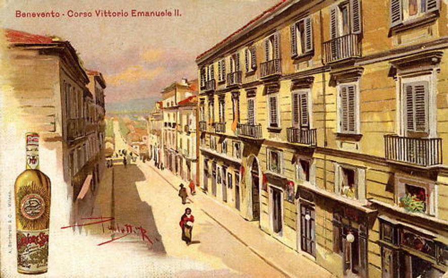 Corso Vittorio Emanuele - Cartolina Pubblicitara