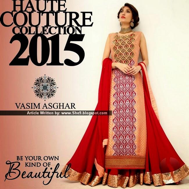 Vasim Asghar Haute Couture Collection 2015